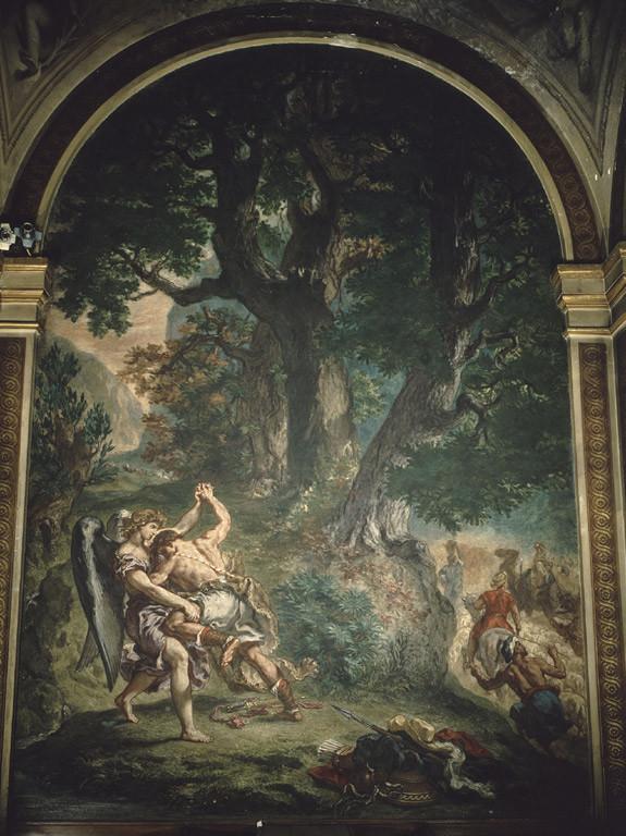 Le combat de Jacob avec l'ange / Eugène Delacroix / 1861 / église Saint Sulpice, Paris