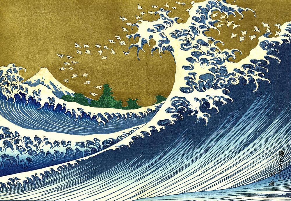 Katsushika Hokusai, « Le Fuji vu de la mer » (1834)