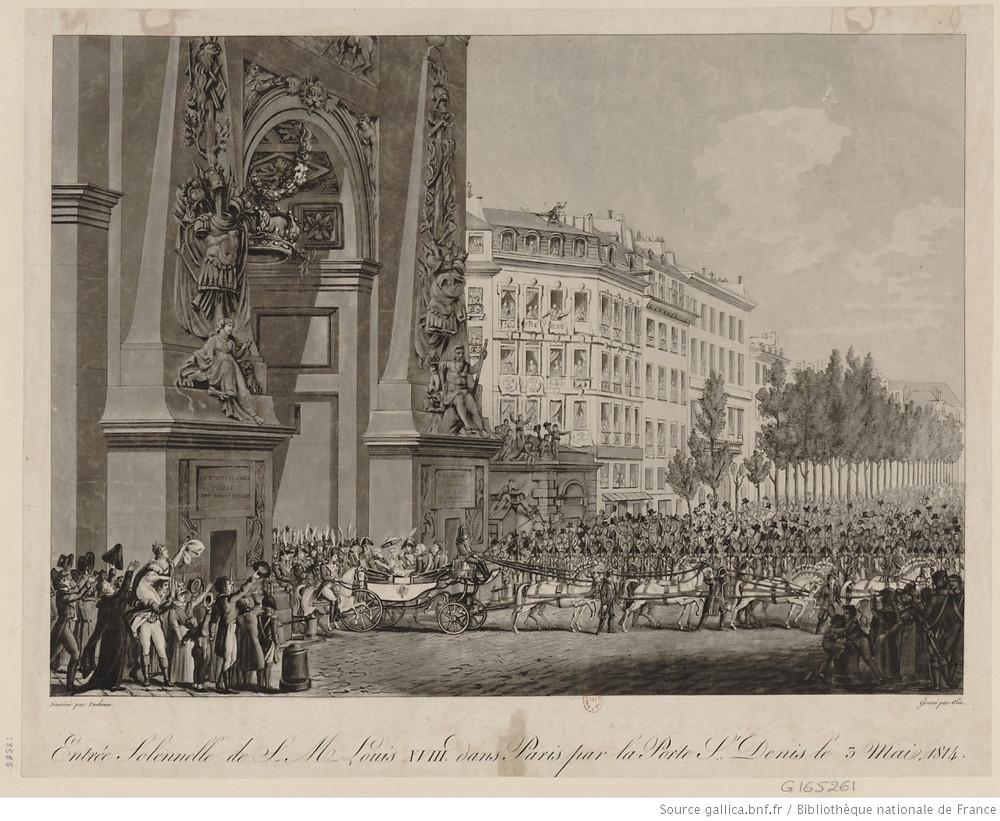 Entrée solennelle de Louis XVIII, le 3 mai 1814