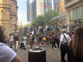 Protesters at Sydney Town Hall– January 10, 2020