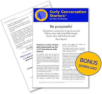 Curly Conversation - BONUS - Be Purposef