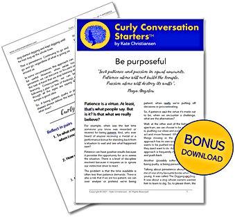 Curly Conversation - BONUS - Be Purposef