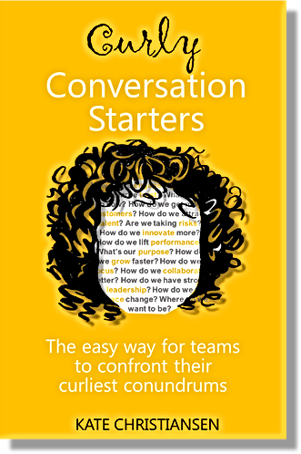 Curly Conversation Starters - Book cover