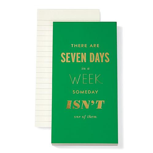 Kate Spade Green Notepad