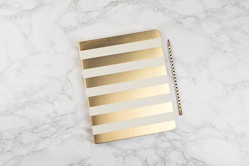Kate Spade Spiral Notebook - Gold Stripe