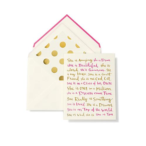 Kate Spade Greeting Card - Happy Birthday