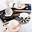 Thumbnail: Spotty Teacup and Saucer - Black