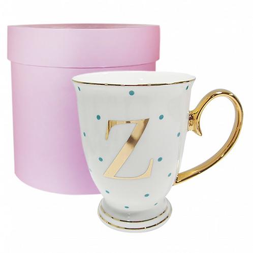 Spotty Monogram Mug - Z