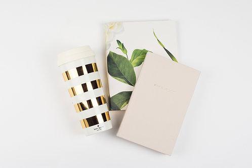 Kate Spade Thermal Mug - Gold Stripe