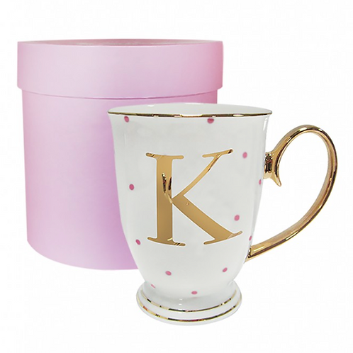 Spotty Monogram Mug - K