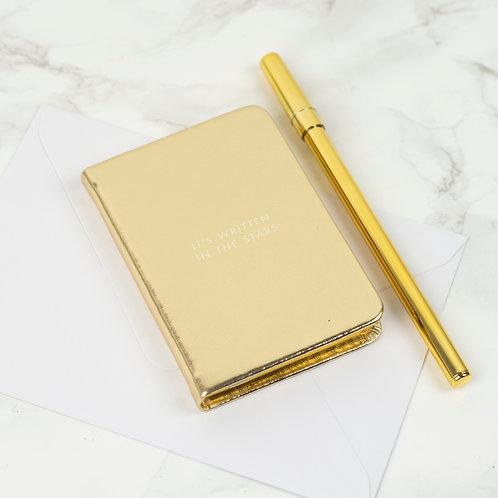 Kate Spade Mini Notebook - Gold