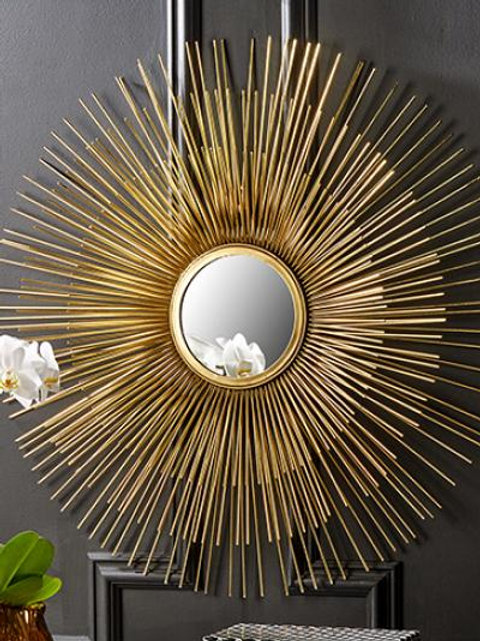 Gold Radial Mirror