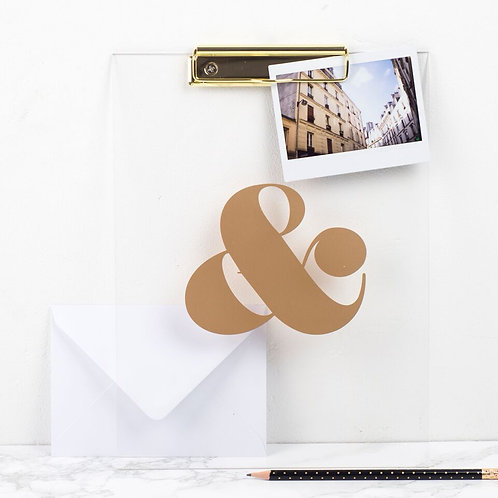 Acrylic Gold Ampersand Clipboard