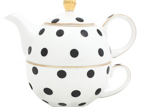 Loulou Polka Dot Tea For One Set