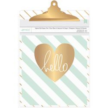 Clipboard with Gold Foil Print - Diagonal Stripe
