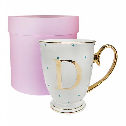 Spotty Monogram Mug - D