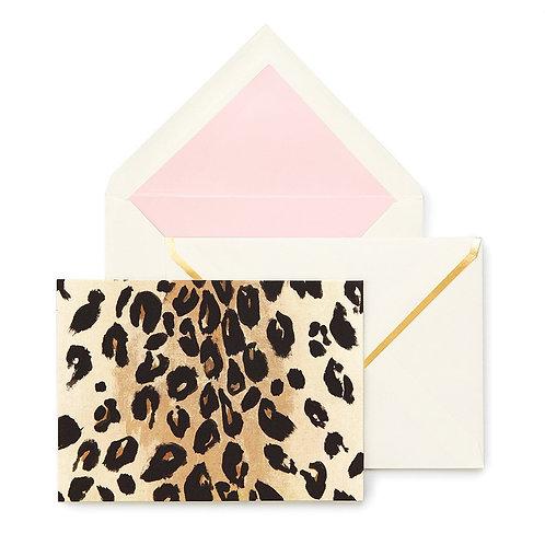Kate Spade Leopard Print Notecard Set