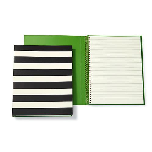 Kate Spade Medium Spiral Notebook - Black Stripes | Magpie Decor | Shop