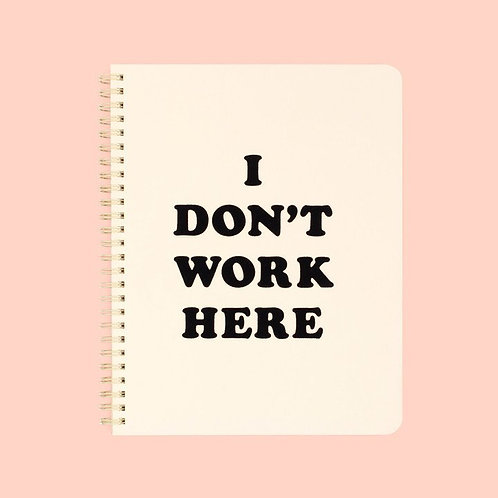 ban.do small notebook - i don't work here