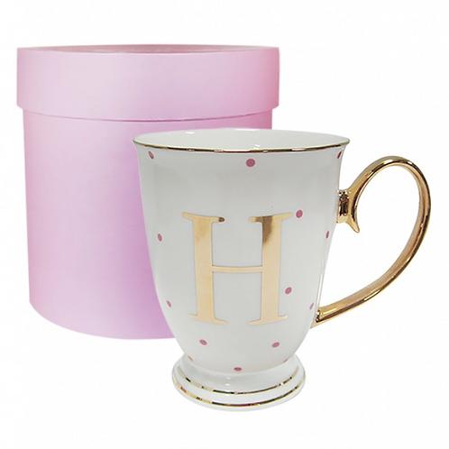 Spotty Monogram Mug - H