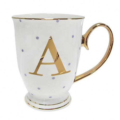 Spotty Monogram Mug - A