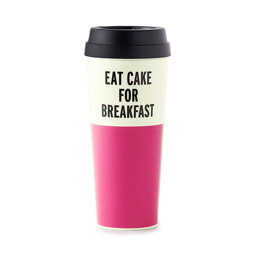 Kate Spade Thermal Mug - Eat Cake For Breakfast