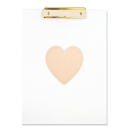 Acrylic Gold Heart Clipboard