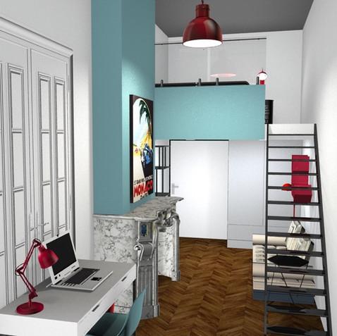 Appartement Haussmanien avec Beaux intérieurs