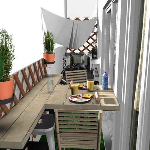 Terrasse filante