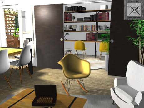 Vue 3D Salon