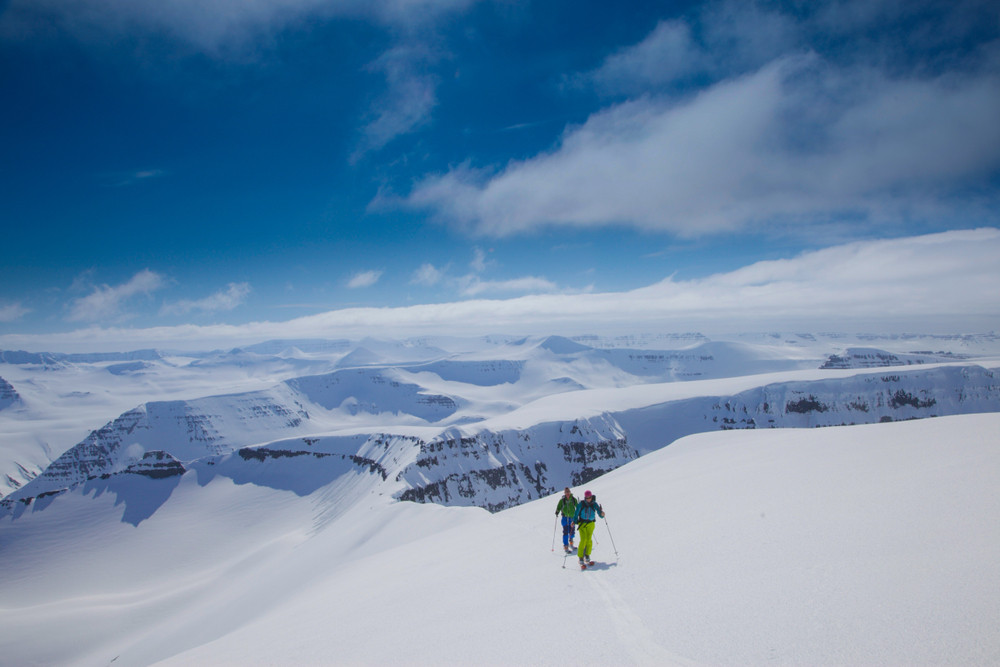 Skiing on Iceland's Trollaskagi Peninsula, Trolls peninsular