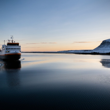 Catching Ferries in Iceland