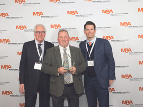 The 2019 MBA Safety Champion Award presented to Bob Simpson, project superintendent, PJ Dick Inc.