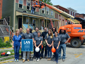 "Lan crosses the finish line in marathon ""Habitat For Humanity"" build"
