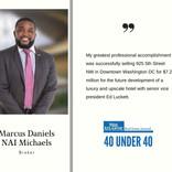 40 Under 40 Marcus Daniels, NAI Michaels