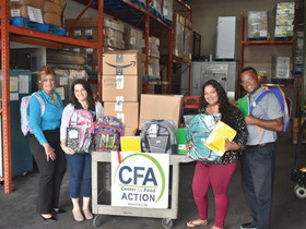 Spencer Savings Bank hosts school supply drive – donates to Center For Food Action