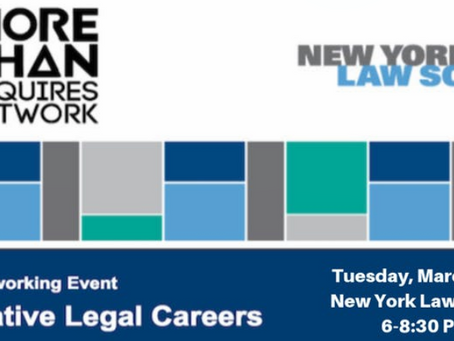 Shari E. Belitz, Esq. Speaking About Alternative Legal Careers at NYLS - March 19