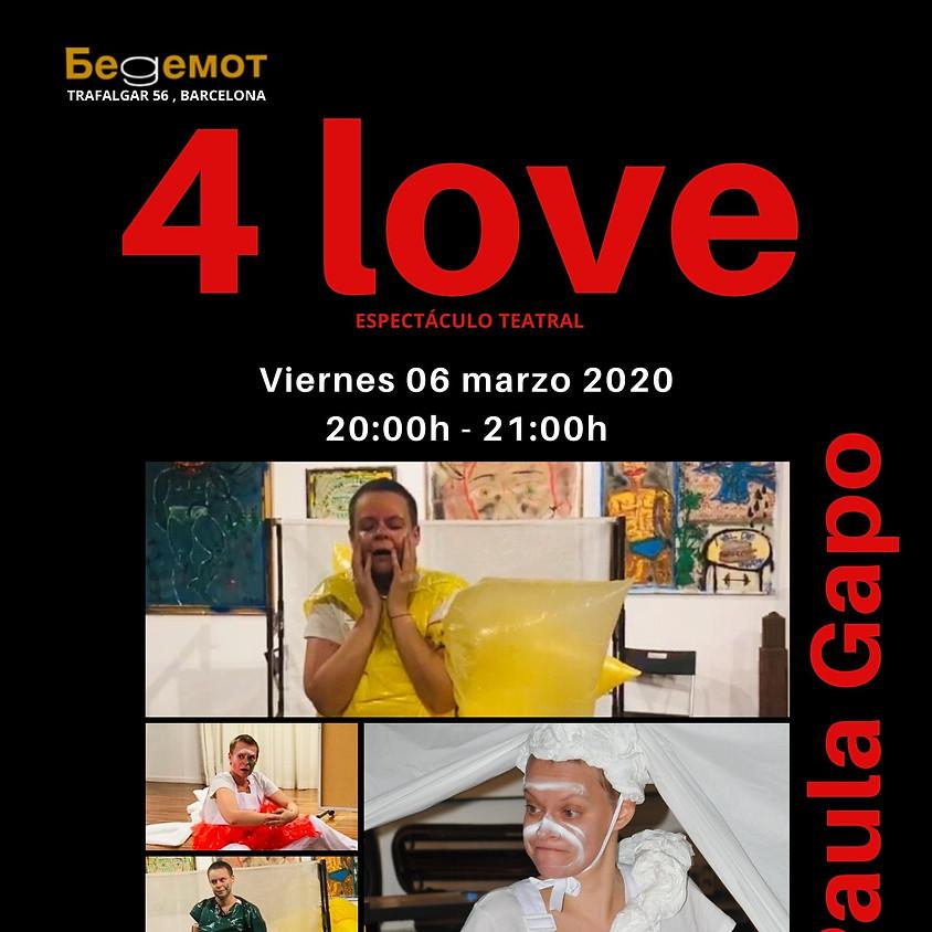 4 Love espectáculo de Paula Gapo