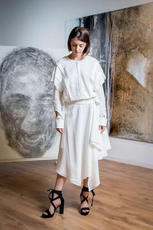 Ana Vasiljevic -Falda Irregular white