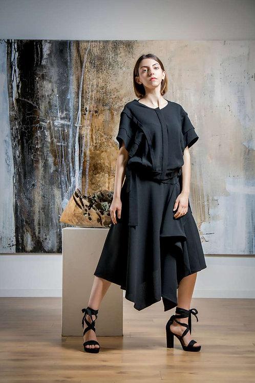 Ana Vasiljevic -Falda Irregular black