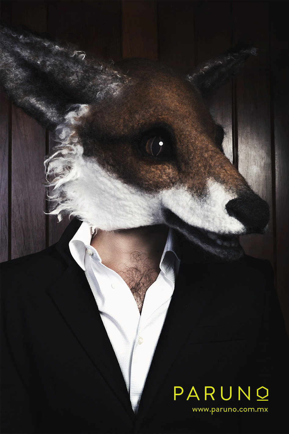 Fox mask by Gladys Paulus for Paruno Mexico