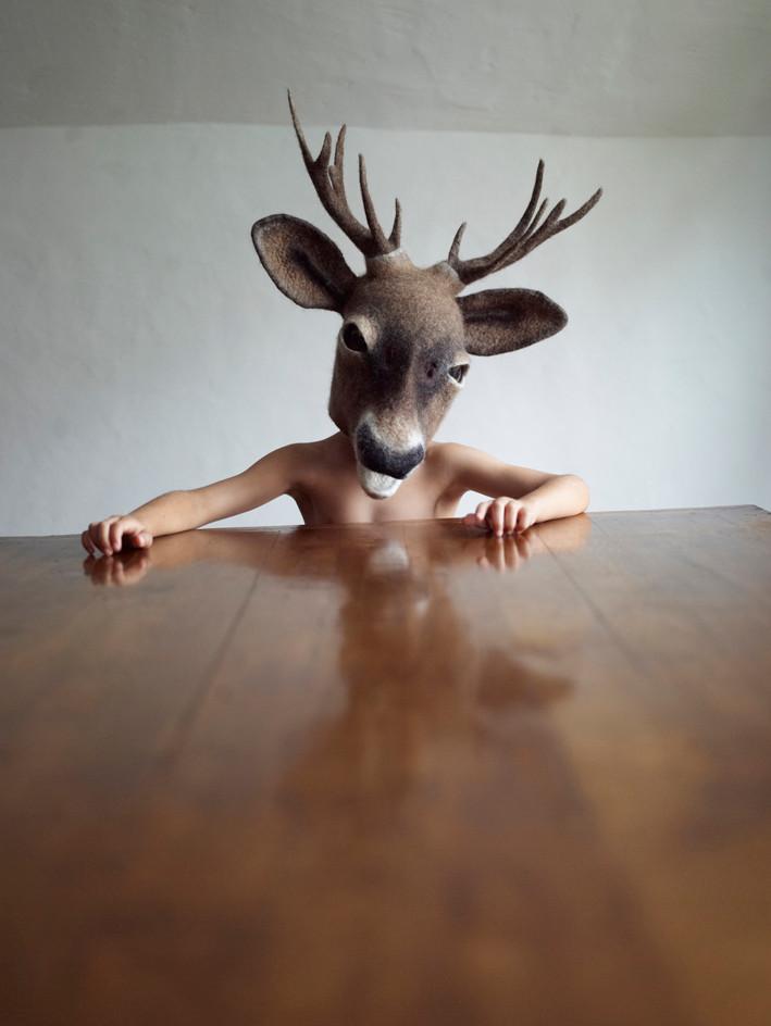 Buck mask by Gladys Paulus