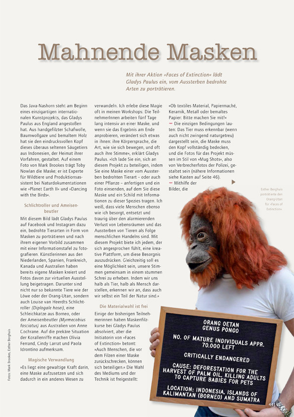 Filzfun issue 70 Gladys Paulus Faces of Extinction Esther Meijer.jpg