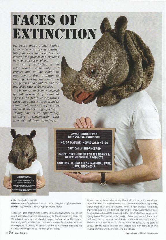 Felt Magazine Australia 2020 Faces of Extinction gladys Paulus