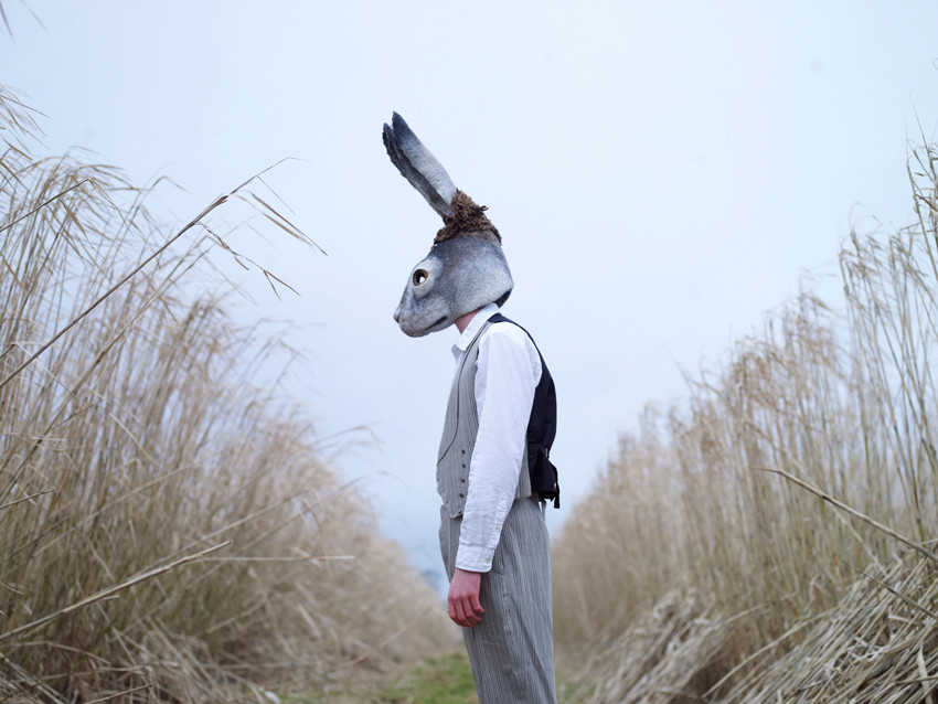 Hare mask by Gladys Paulus