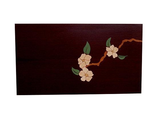 """Still Life """"Blossom"""" Marquetry Art Panel"""