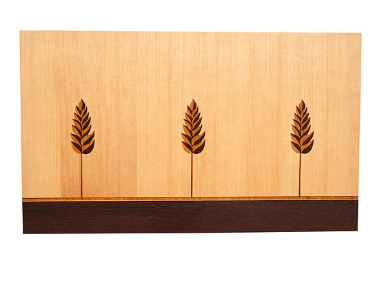 """Wheat Stalk"" Marquetry Art Panel"