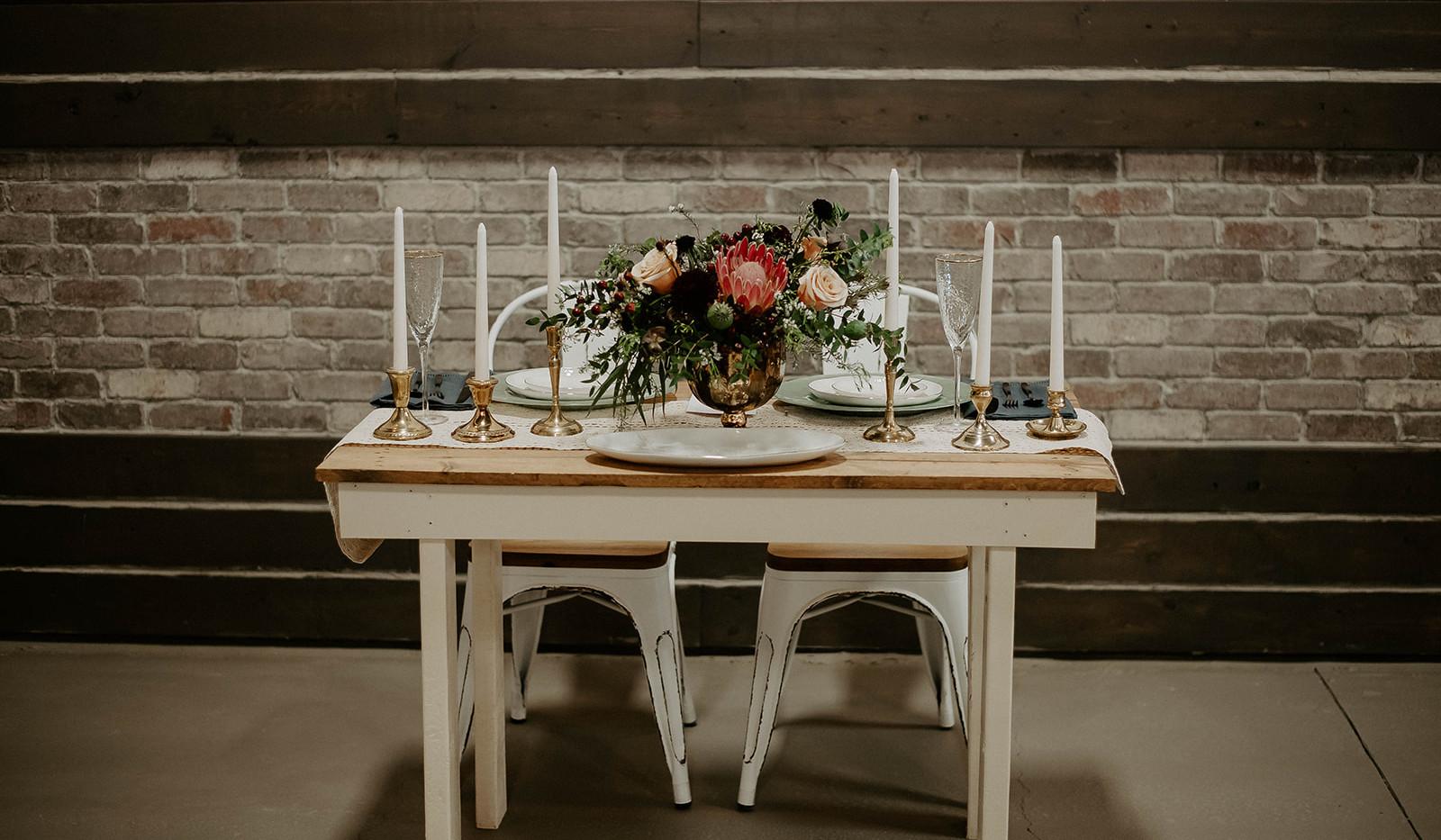 Elegant table for decor