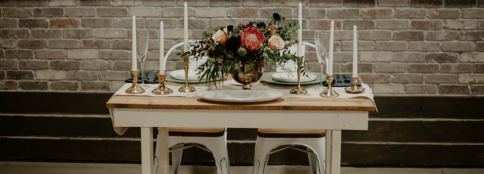 Elegant table for decor