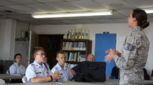 USAF TSgt Visits TX-450 Cadets